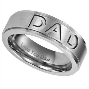 "Titanium Steel ""DAD"" Ring SZ 10-13 Father's Day!"